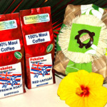 Two (2) 8 oz. packages of our exclusive Maui-grown and roasted coffee in Lauhala Basket