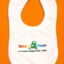 Everybody knows somebody with a new baby, and babies need bibs! Our little Mo'o will add fun to baby's mealtime. Velcro closure, easy care terrycloth fabric.