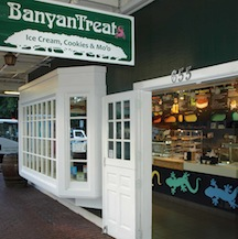 Welcome to BanyanTreats! Home of the Hula Cookie Ice Cream Sandwich, the Mo'o Special, Hula Cookies and Roselani Ice Cream
