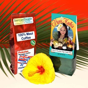 One bag 100% Maui Coffee and one bag Honi Kuki MIx